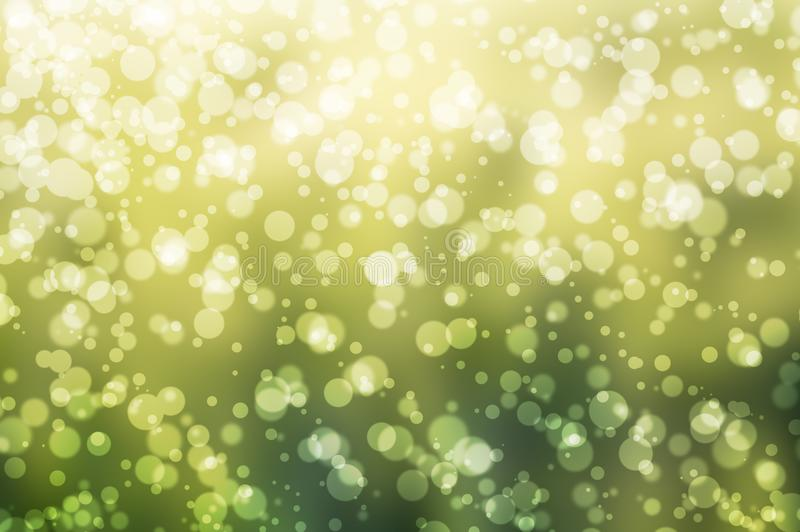 Green bokeh on nature defocus art abstract blur background stock photo