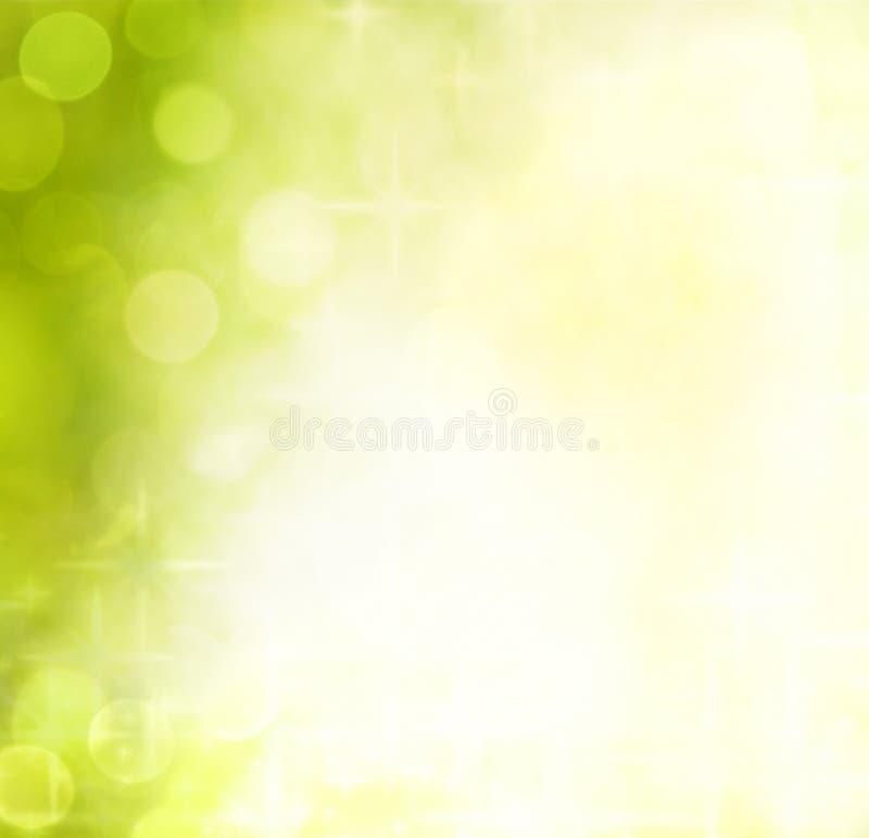 Green bokeh and stars background. Christmas green bokeh and stars background vector illustration