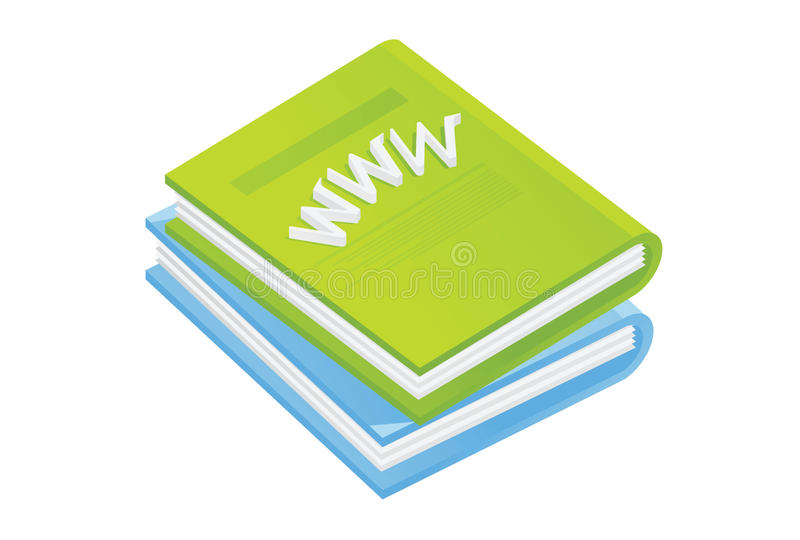 Green books vector illustration