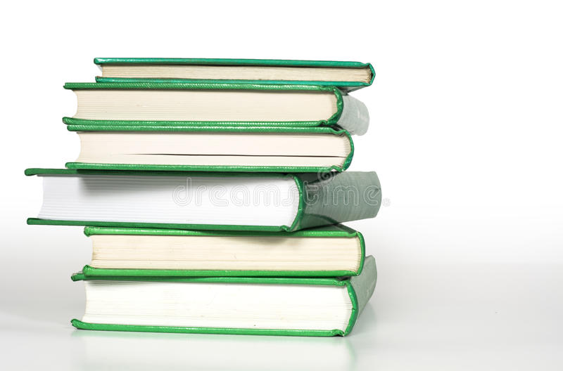 Download Green books stacked up stock photo. Image of literature - 42789576