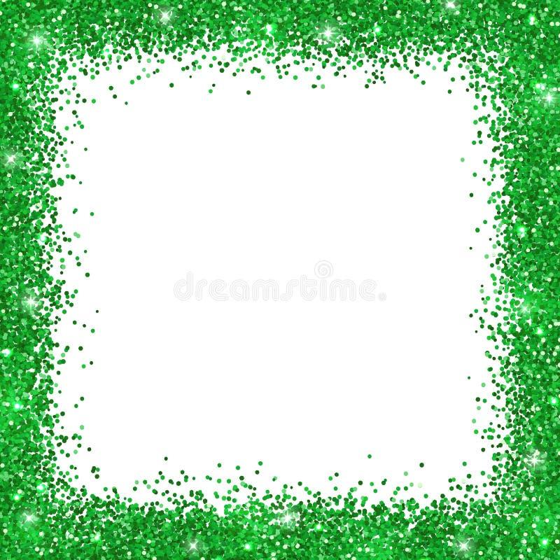 Download Green Border Frame, Green Glitter On White Background. Vector Stock Vector - Illustration of light, gleam: 106224411