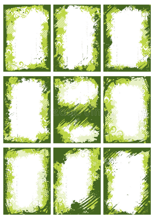 Green borders or frames royalty free stock photography