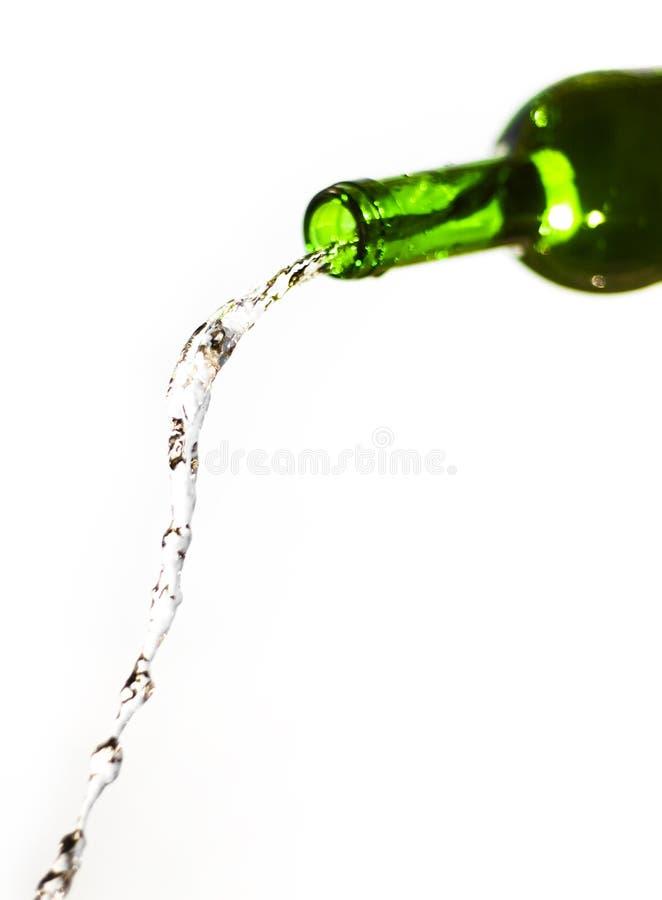 Green bottle stock photography