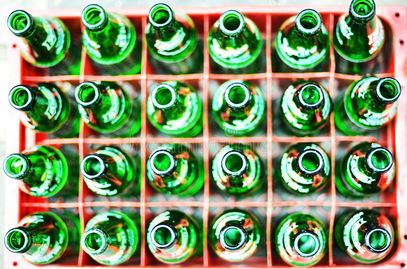 Green Bottle green bottle glass box background outdoor stock images