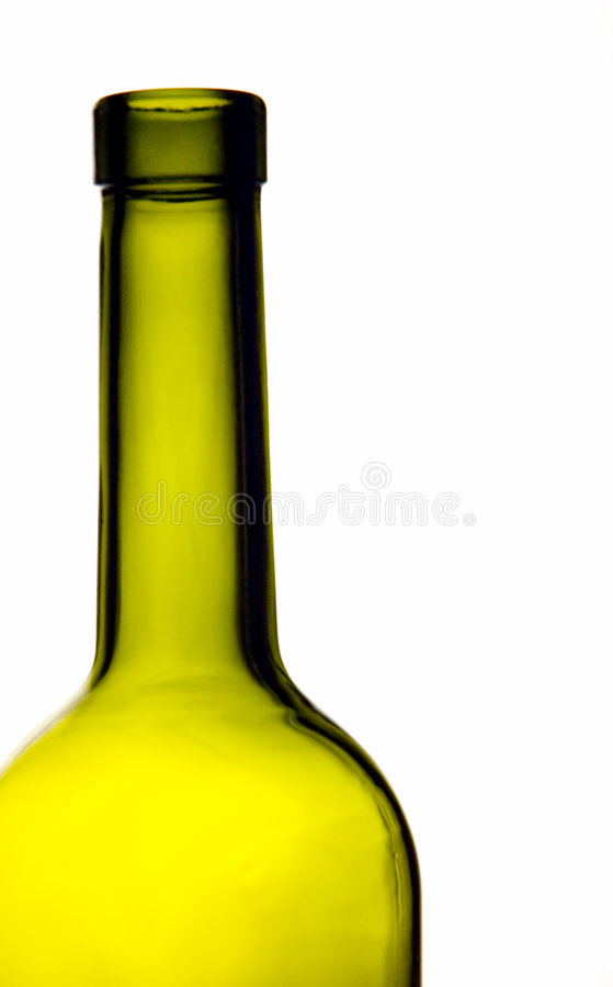 Green bottle neck royalty free stock image
