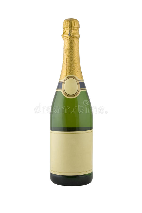Free Green Bottle Of Champagne Royalty Free Stock Photos - 16826138