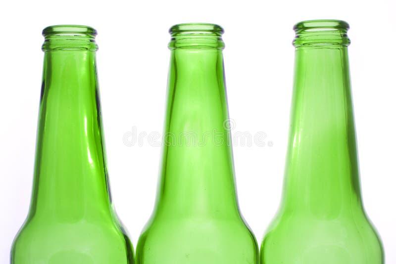 Green bottles stock photos