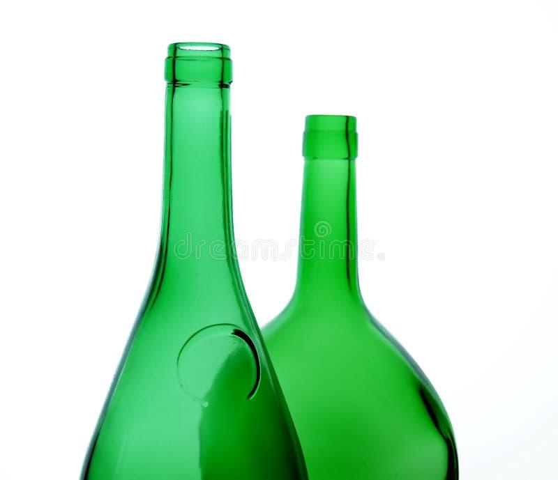 Green bottles royalty free stock photo