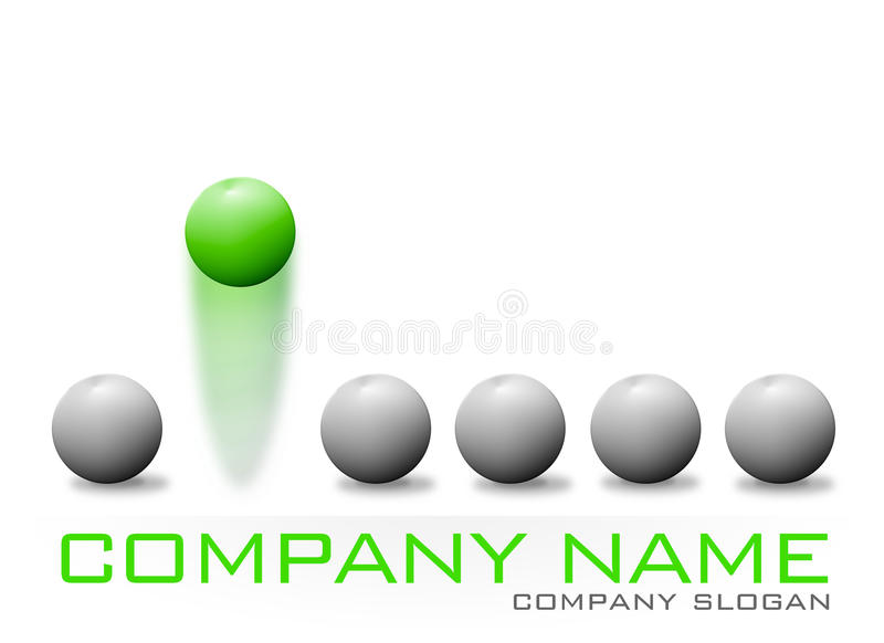 Green Bouncing Ball Company Logo royalty free illustration