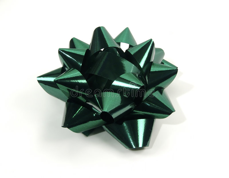 Green Bow royalty free stock photography