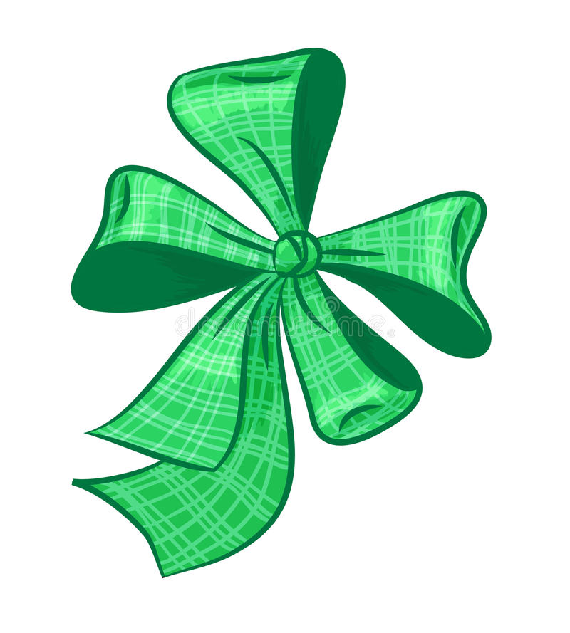 Download Green  bow stock vector. Image of present, design, gift - 28449662