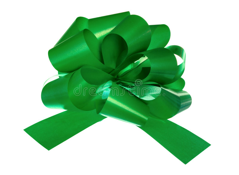 Green bow stock image