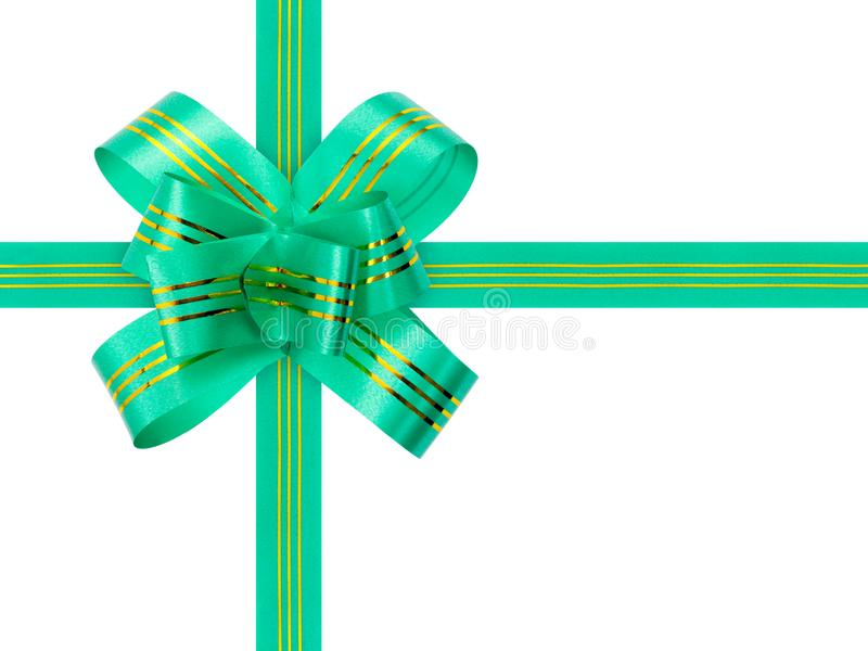 Green bow and ribbon royalty free stock images