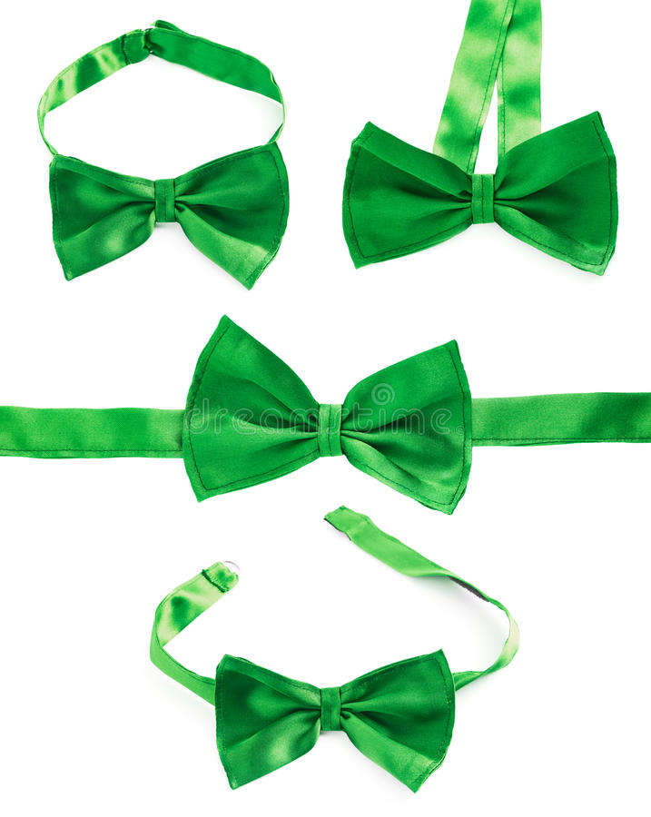 Green bow tie isolated royalty free stock image