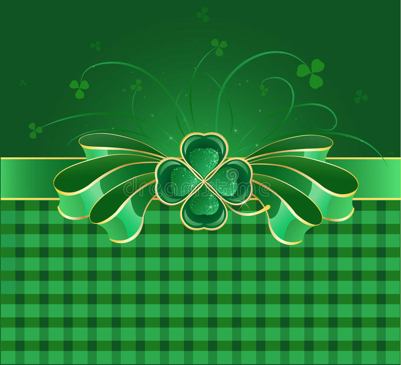 Free Green Bow With Clover Stock Photo - 12206480