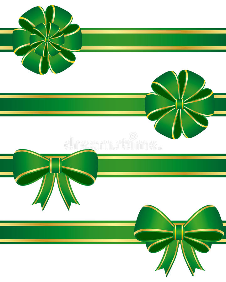 Green bows vector illustration