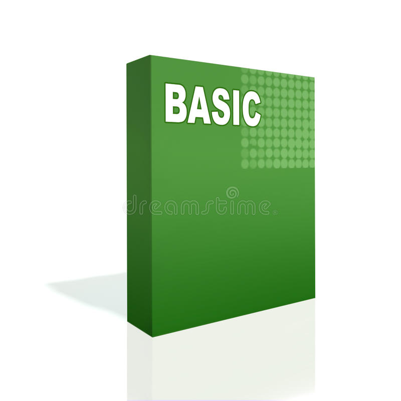 Green box with level inscription royalty free illustration
