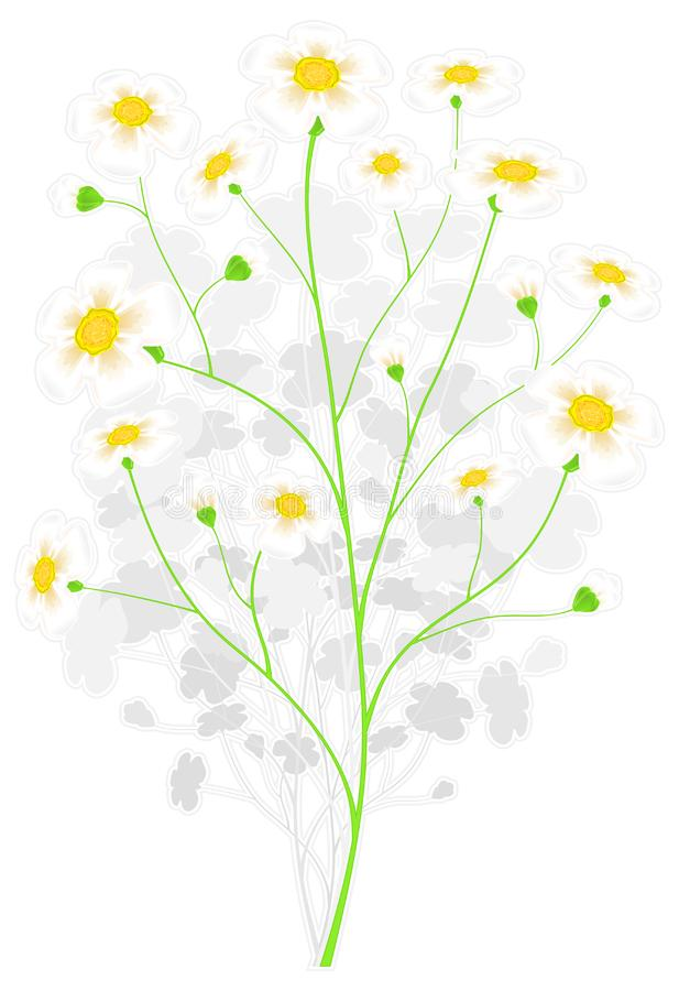 Green branch with yellow flowers