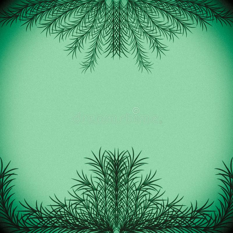 Green branches forming a frame on a pastel green background. Green branches forming frame pastel background backdrop illustration graphic design border template royalty free stock photography