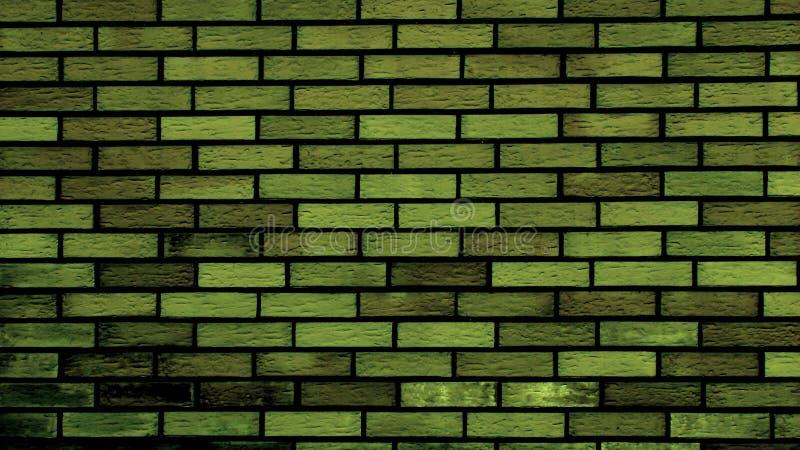 Green Brick Wall Royalty Free Stock Photography