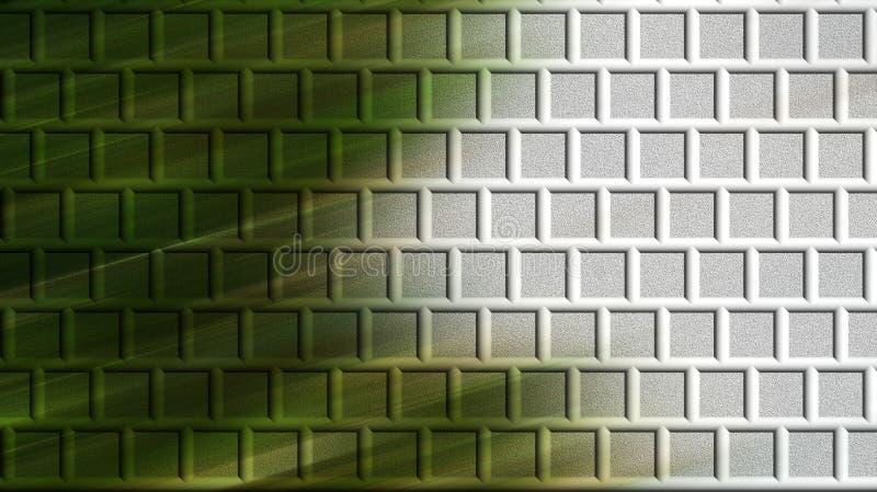 Green brick wall computer generated. New green brick wall computer generated with different layers and diagonally lighted stock photos