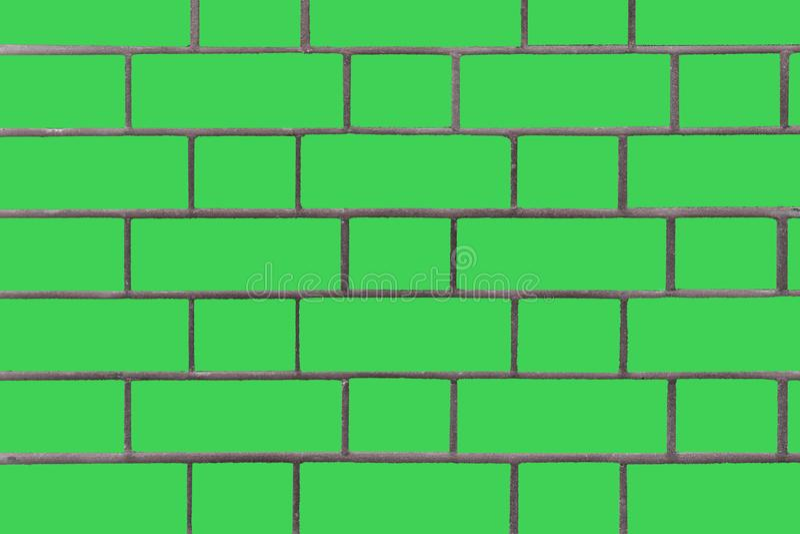 Green brick wall. Vector graphics. Background image of a brick wall. Textural abstract image royalty free stock photography