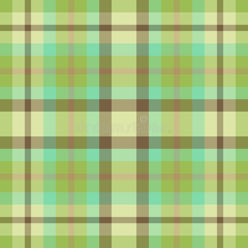Green and brown plaid stock illustration
