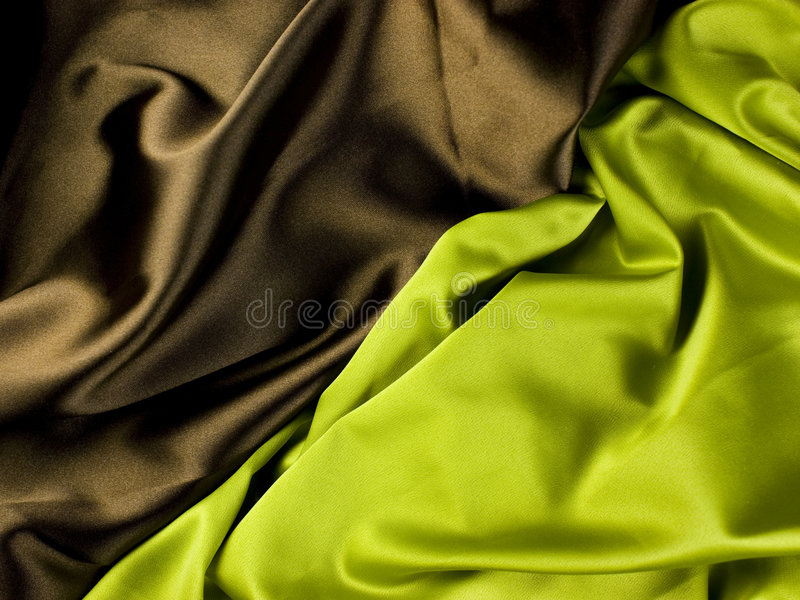 Green brown satin stock photos