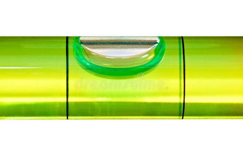 Green bubble level isolated on a white background royalty free stock photo