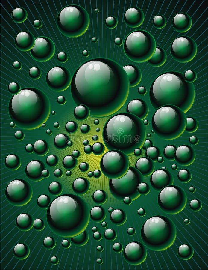 Green bubbles stock illustration