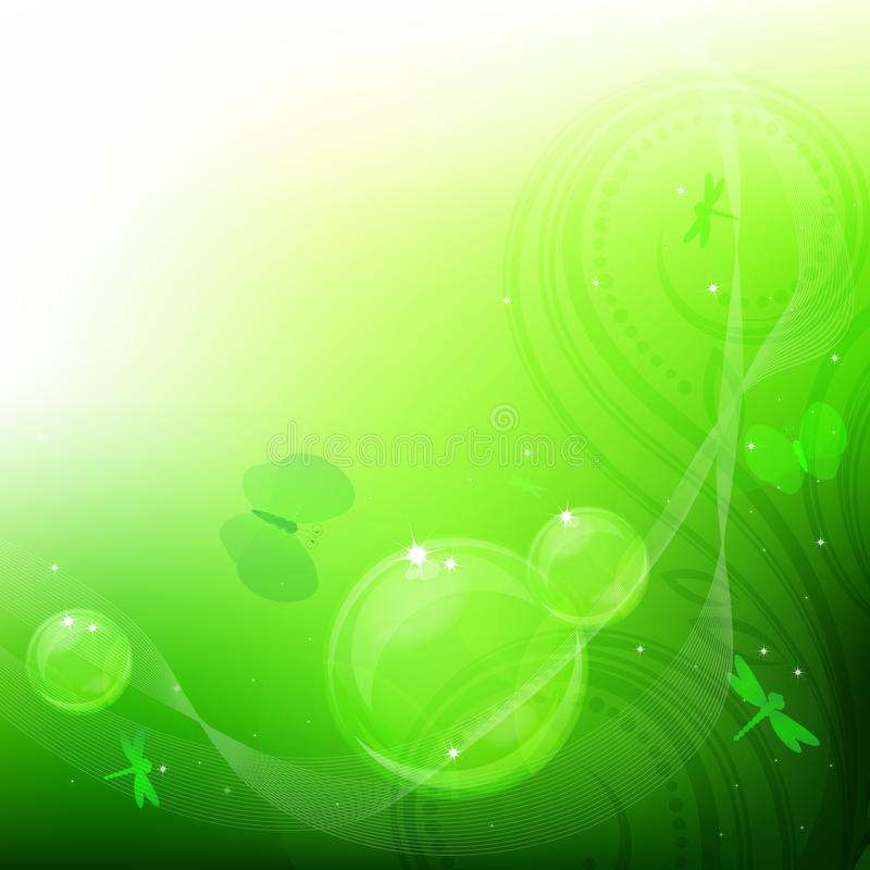 Green bubbles background. royalty free stock image