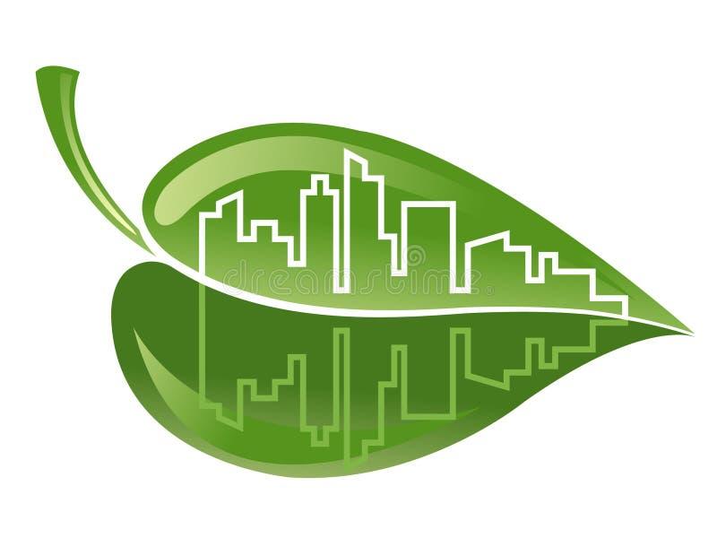 Download Green building stock vector. Image of brick, leaf, business - 20841566