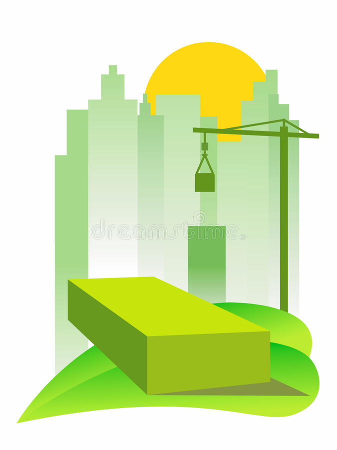 Green building vector illustration