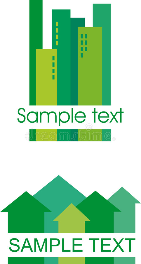 Download Green building icons. stock vector. Image of high, element - 8259883
