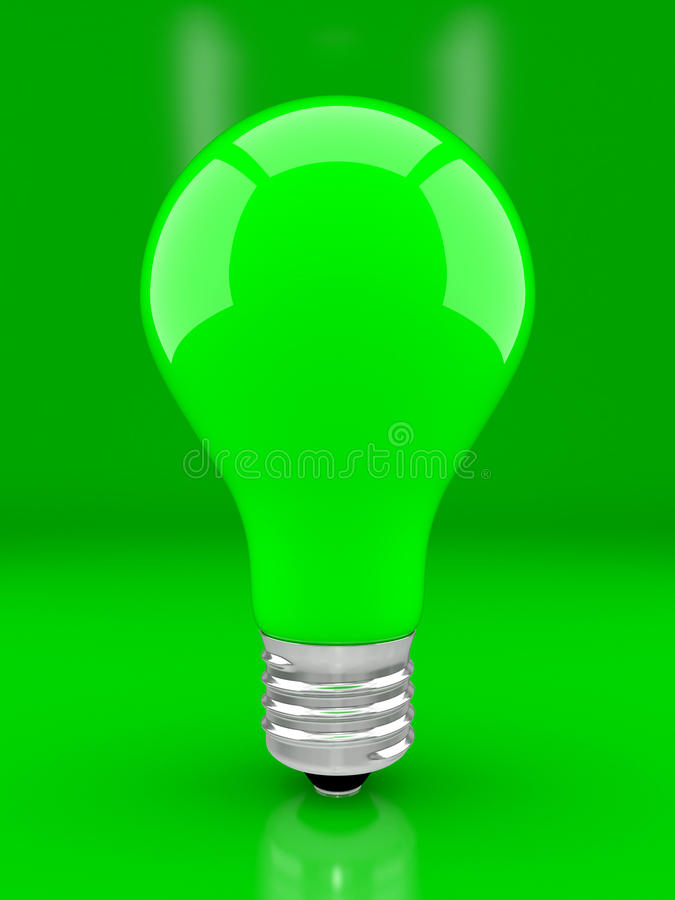 Download Green bulb stock illustration. Illustration of patch - 12404787