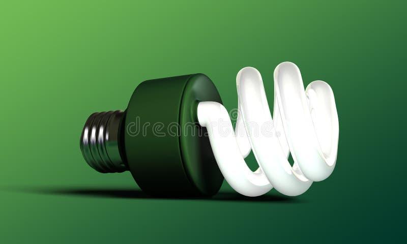 Download Green bulb stock illustration. Image of creative, environmental - 26586307