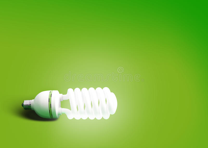 Green bulb abstract background royalty free stock photo