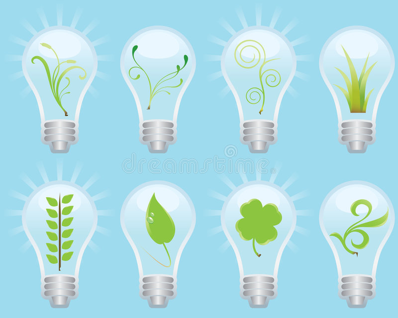 Download Green Bulb Concept stock vector. Image of engry, perfection - 6673635