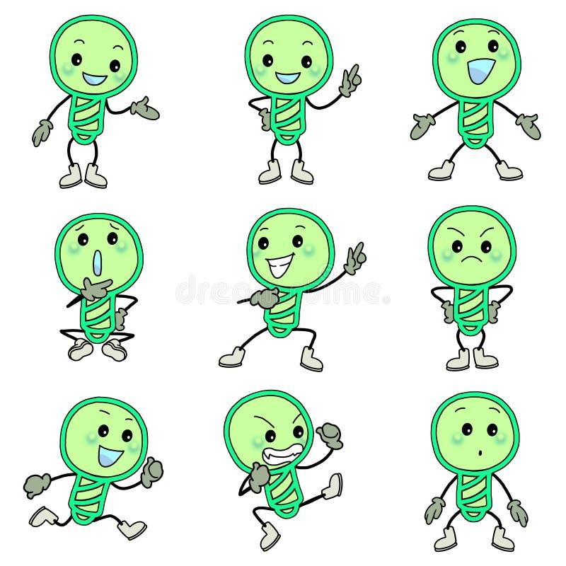Green Bulb Icons Royalty Free Stock Photos