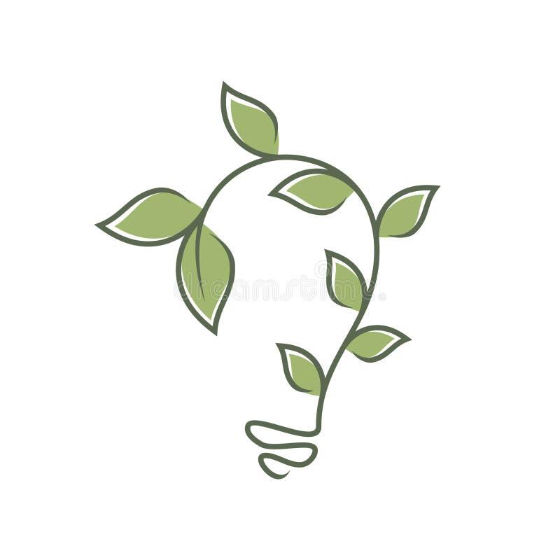 Green bulb leaf ornament vector icons symbol. Spring leaves ecology symbols. Vector illustration EPS.8 EPS.10 royalty free illustration