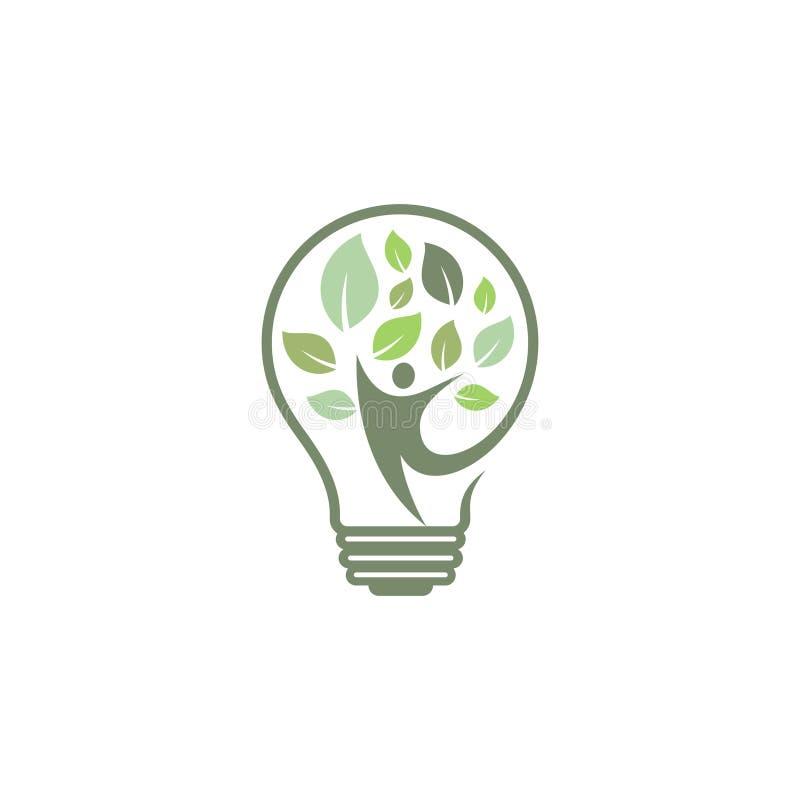 Green bulb people tree ornament vector icons symbol. Spring leaves ecology symbols. Vector illustration EPS.8 EPS.10 stock illustration