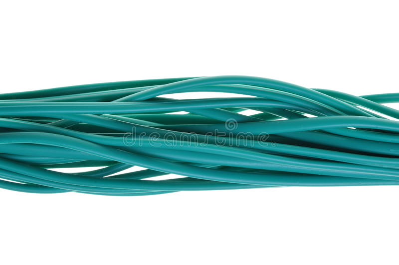 Download Green bunch of cables stock image. Image of global, connection - 26132761