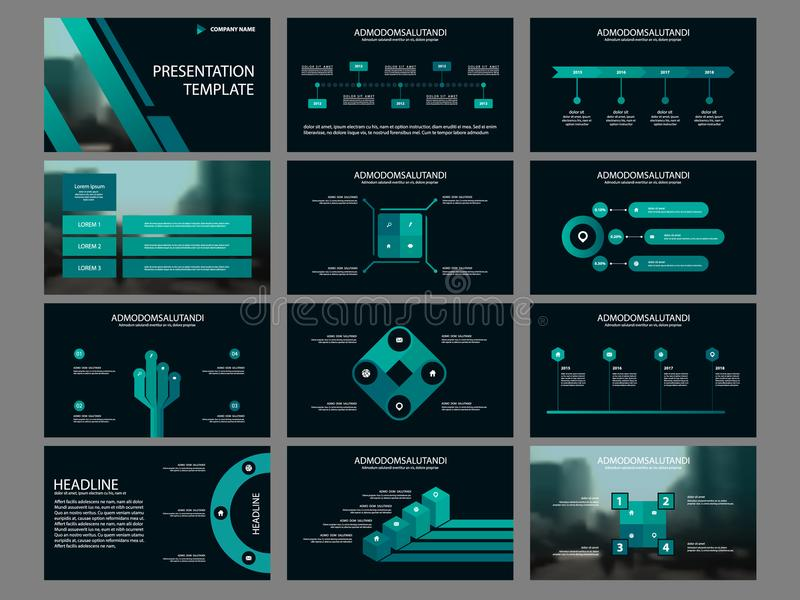 Green Bundle infographic elements presentation template. business annual report, brochure, leaflet, advertising flyer,. Corporate marketing banner royalty free illustration