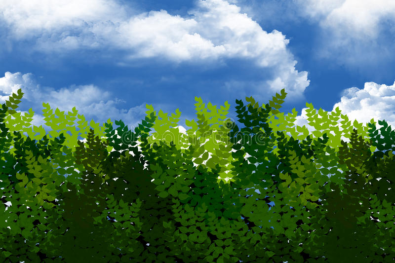 Download Green Bushes In The Sky. Stock Photos - Image: 22149233