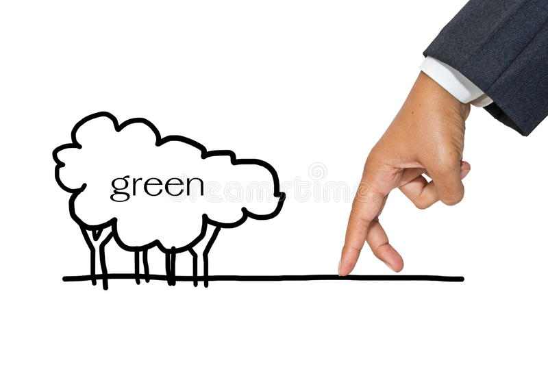 Download Green business stock photo. Image of drawing, green, ecology - 25993192