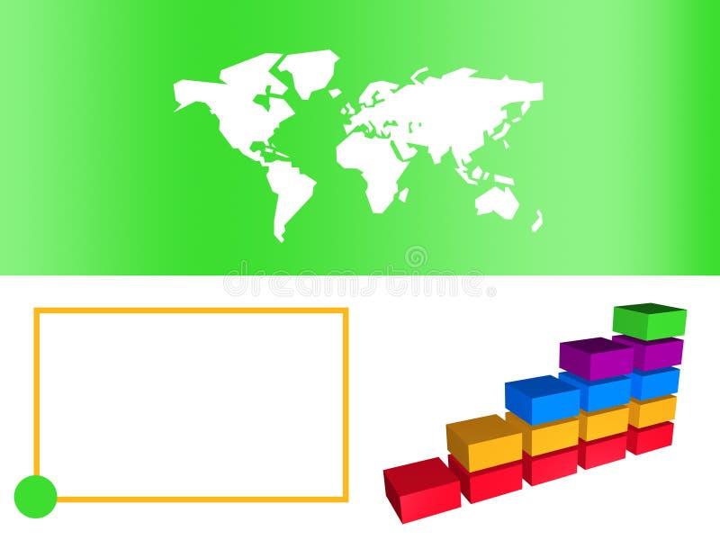 Green Business Bar Chart Showing Growth. Business Bar Chart Showing Growth in Green Color stock illustration