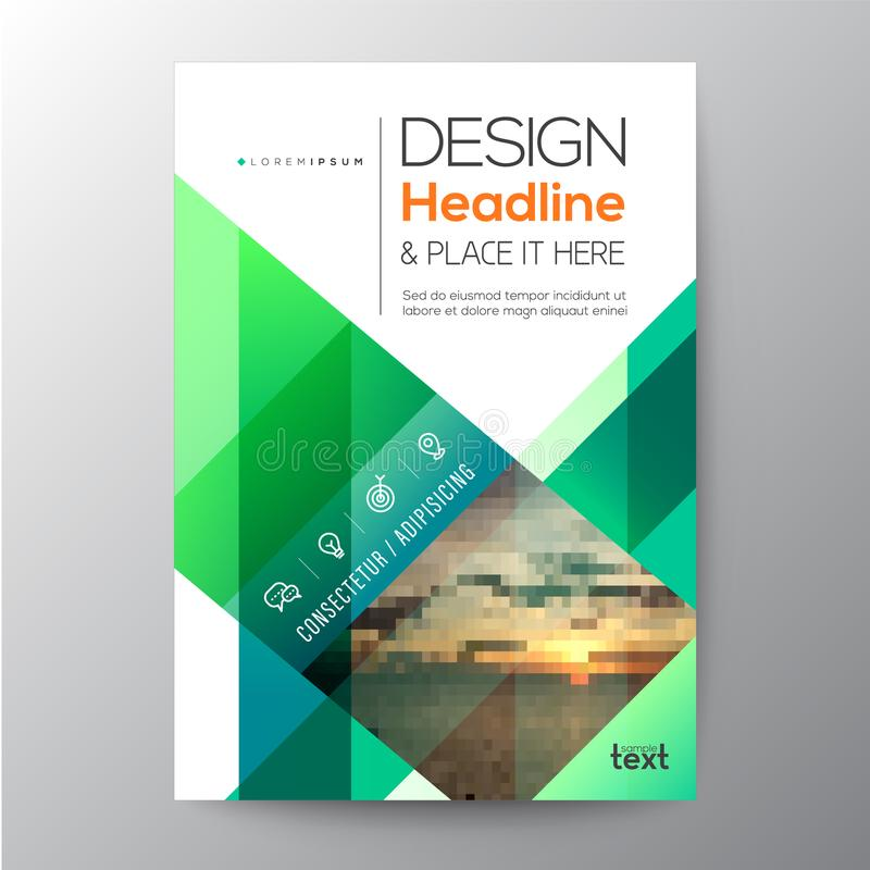 Green Business brochure template design vector illustration