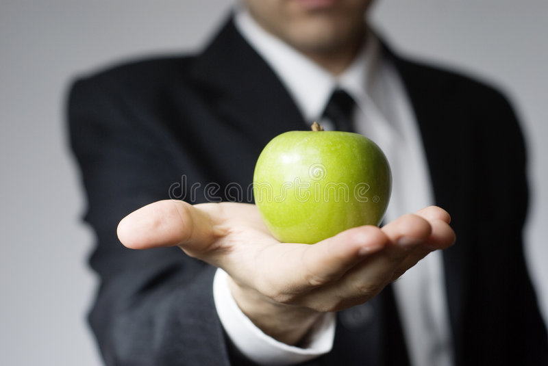 Green business solution stock photo