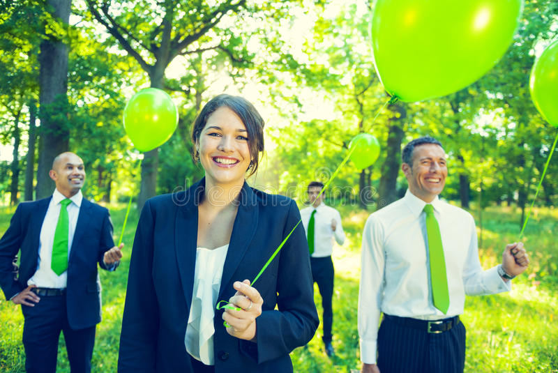 Green Business Team Environment Friendly Concept royalty free stock photos