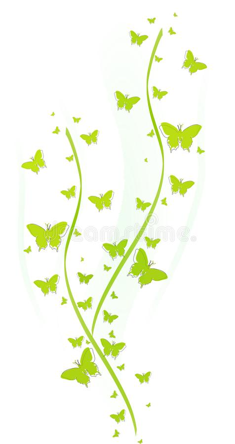 Free Green Butterflies For Greeting Cards Royalty Free Stock Images - 113961869